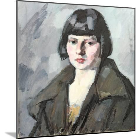 Head of a Young Girl, C.1920-Samuel John Peploe-Mounted Giclee Print