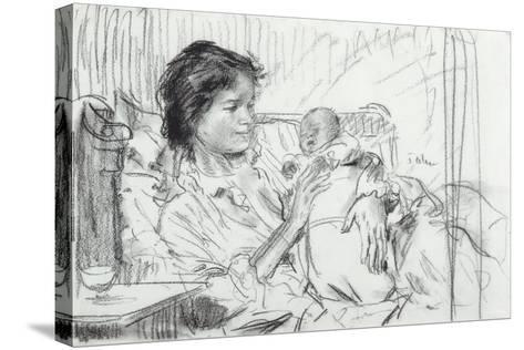 Ida and Child-Augustus Edwin John-Stretched Canvas Print