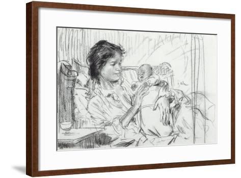 Ida and Child-Augustus Edwin John-Framed Art Print