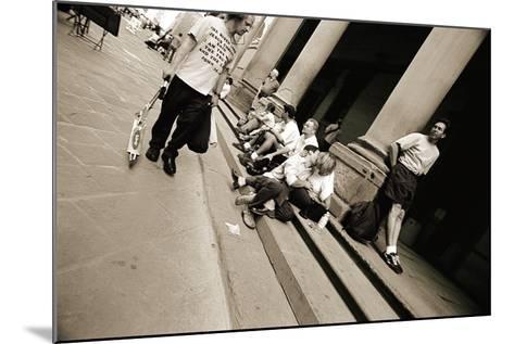 Man Wearing a 'Jesus' T-Shirt Staring at Lovers, 2004-Stephen Spiller-Mounted Photographic Print