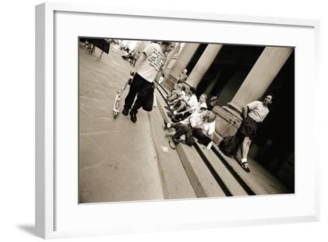 Man Wearing a 'Jesus' T-Shirt Staring at Lovers, 2004-Stephen Spiller-Framed Art Print