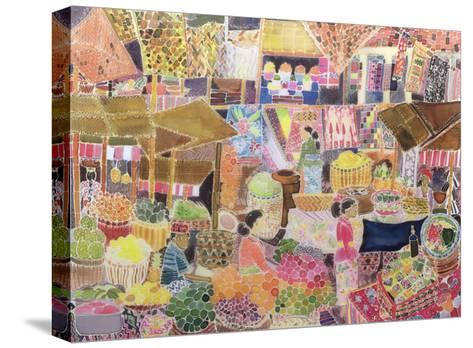 Ubud Market, Bali, 2002-Hilary Simon-Stretched Canvas Print
