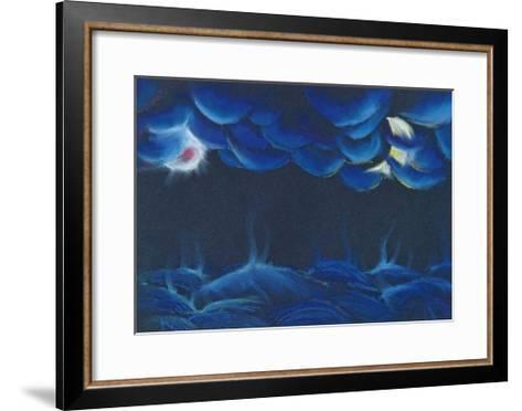 Creation Sun and Moon-Jung Sook Nam-Framed Art Print