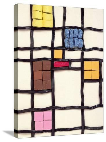 Allsorts 1 (After Mondrian) 2003-Norman Hollands-Stretched Canvas Print