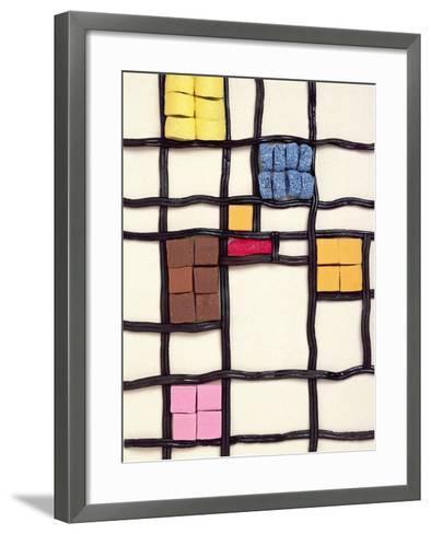 Allsorts 1 (After Mondrian) 2003-Norman Hollands-Framed Art Print