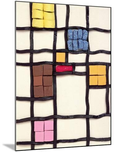 Allsorts 1 (After Mondrian) 2003-Norman Hollands-Mounted Photographic Print