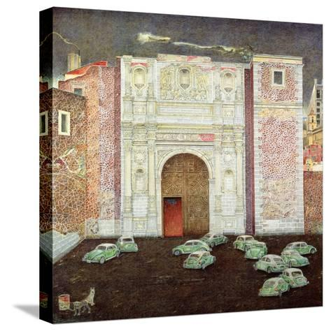 Taxi Depot, San Lazaro, Mexico City, 2003-James Reeve-Stretched Canvas Print