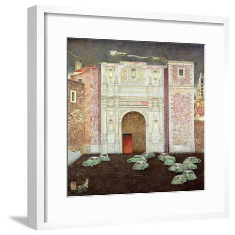 Taxi Depot, San Lazaro, Mexico City, 2003-James Reeve-Framed Art Print