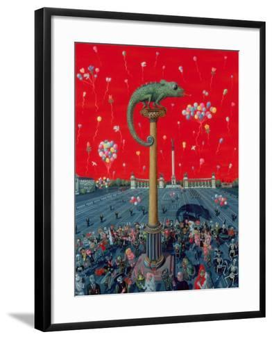 Golden Age or the Dance of Death at the Millennium's End 1996-Tamas Galambos-Framed Art Print