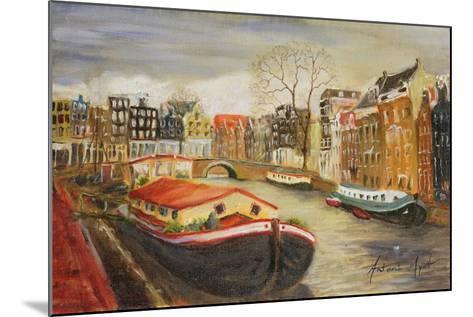 Red House Boat, Amsterdam, 1999-Antonia Myatt-Mounted Giclee Print