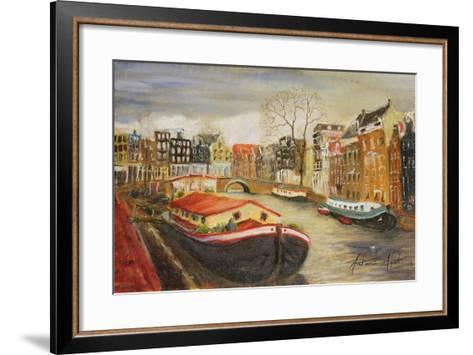 Red House Boat, Amsterdam, 1999-Antonia Myatt-Framed Art Print