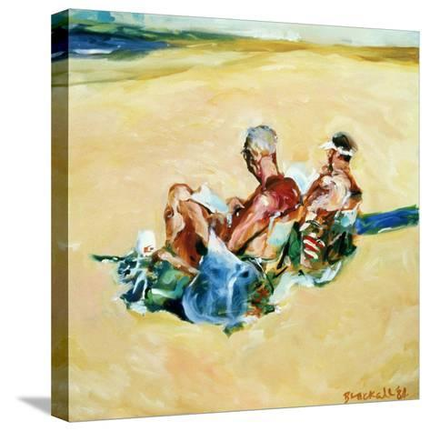 Sidney Beach Bums, 1984-Ted Blackall-Stretched Canvas Print