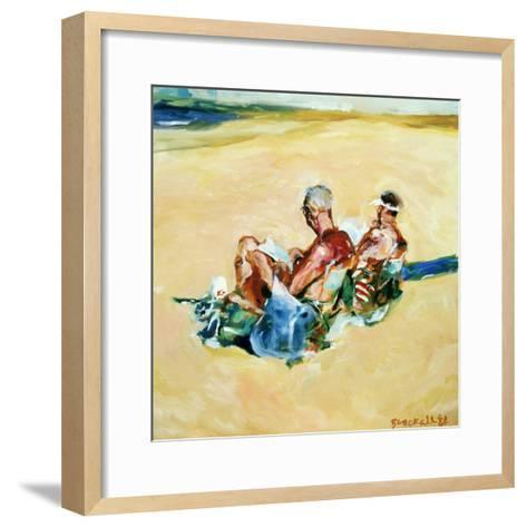 Sidney Beach Bums, 1984-Ted Blackall-Framed Art Print