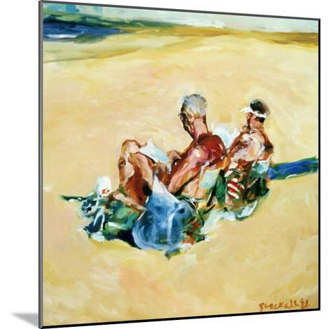 Sidney Beach Bums, 1984-Ted Blackall-Mounted Giclee Print
