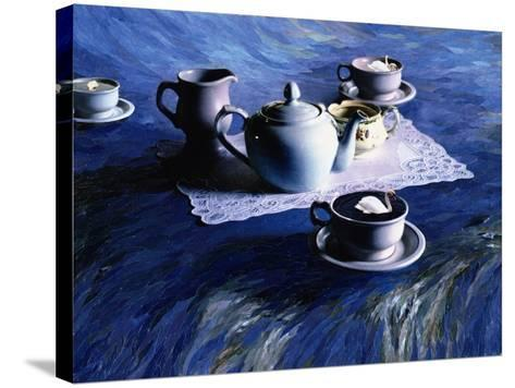 Tea Time with Gordy, 1998-Ellen Golla-Stretched Canvas Print