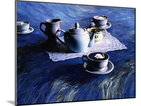 Tea Time with Gordy, 1998-Ellen Golla-Mounted Giclee Print