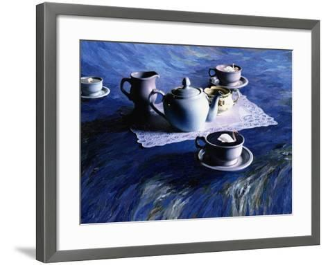 Tea Time with Gordy, 1998-Ellen Golla-Framed Art Print