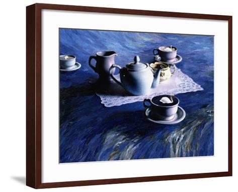 Tea Time with Gordy, 1998-Ellen Golla-Framed Art Print