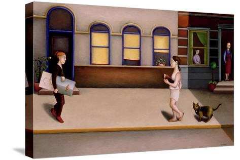 Street 2-Caroline Jennings-Stretched Canvas Print