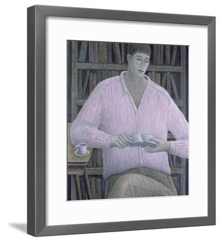 Man Reading, 1998-Ruth Addinall-Framed Art Print