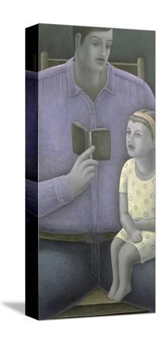 Man Reading to Girl, 2003-Ruth Addinall-Stretched Canvas Print
