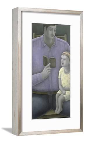 Man Reading to Girl, 2003-Ruth Addinall-Framed Art Print