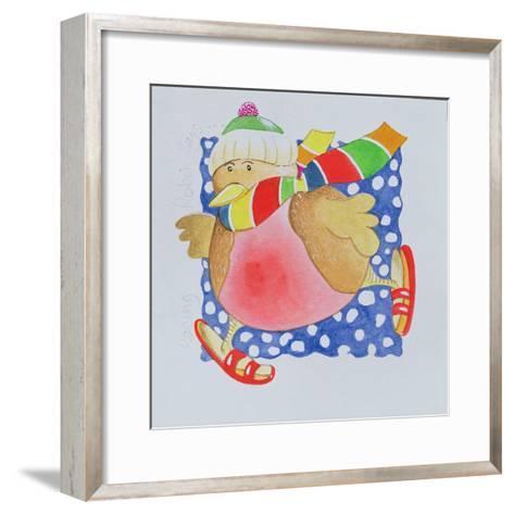 Snow Robin, 2005-Tony Todd-Framed Art Print