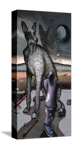Anubis and Charon, 1997-Chris Gollon-Stretched Canvas Print