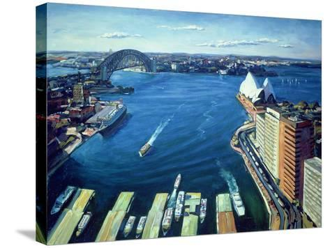 Sydney Harbour, Pm, 1995-Ted Blackall-Stretched Canvas Print
