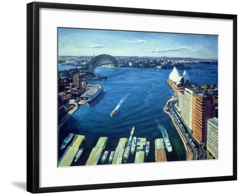 Sydney Harbour, Pm, 1995-Ted Blackall-Framed Art Print