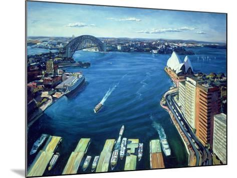 Sydney Harbour, Pm, 1995-Ted Blackall-Mounted Giclee Print