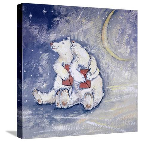 Happy Bears-David Cooke-Stretched Canvas Print