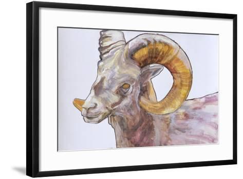 American Long Horn, 2004-Lou Gibbs-Framed Art Print