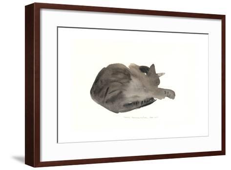 Sleeping Cat, 1985-Claudia Hutchins-Puechavy-Framed Art Print