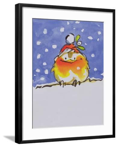 Christmas Robin-Diane Matthes-Framed Art Print