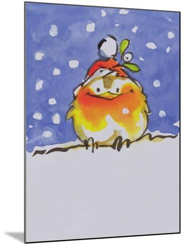 Christmas Robin-Diane Matthes-Mounted Giclee Print