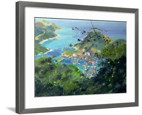 View of Aberdeen from the Peak, Hong Kong-Anne Durham-Framed Art Print