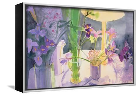 Winter Iris-Claire Spencer-Framed Canvas Print