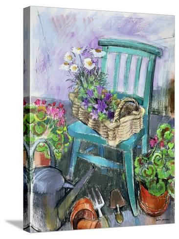 Gardener's Chair-Claire Spencer-Stretched Canvas Print
