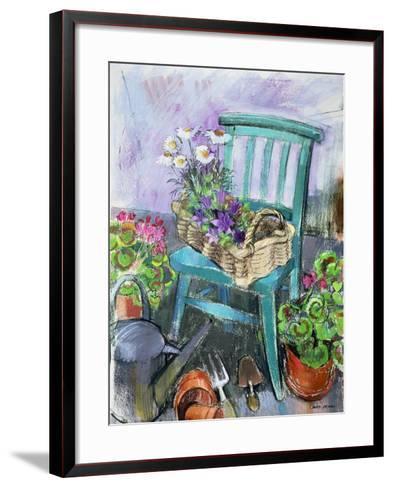 Gardener's Chair-Claire Spencer-Framed Art Print