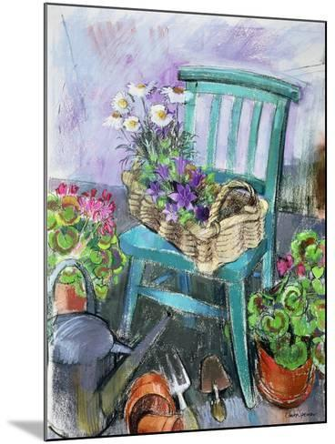 Gardener's Chair-Claire Spencer-Mounted Giclee Print