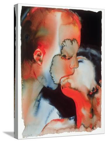 Close-Up Kiss, 1988-Graham Dean-Stretched Canvas Print