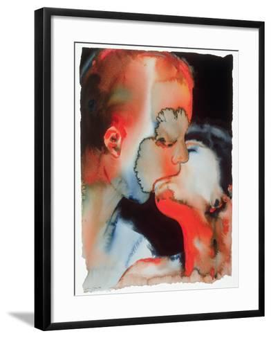 Close-Up Kiss, 1988-Graham Dean-Framed Art Print