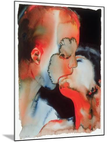 Close-Up Kiss, 1988-Graham Dean-Mounted Giclee Print