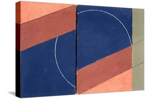 Painting - Interrupted Circle, 2000-George Dannatt-Stretched Canvas Print