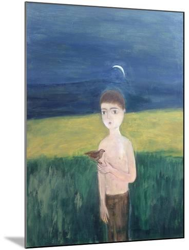 Boy with Bird, 2002-Roya Salari-Mounted Giclee Print