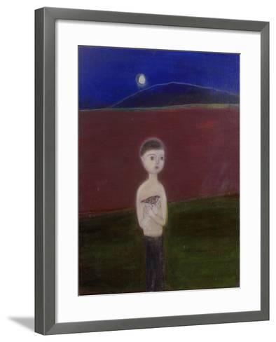 Boy in the Moonlight, 2002-Roya Salari-Framed Art Print