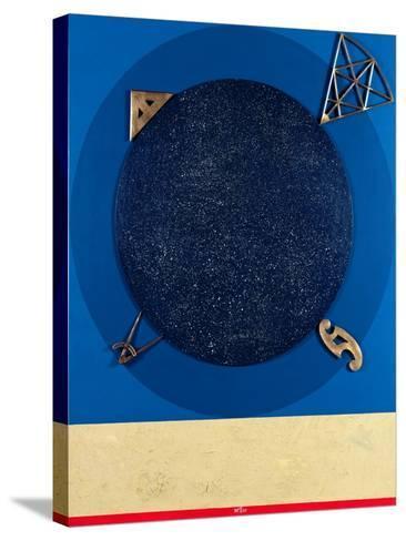 Misuratore, 1999-Lucio Del Pezzo-Stretched Canvas Print