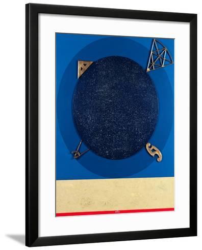 Misuratore, 1999-Lucio Del Pezzo-Framed Art Print