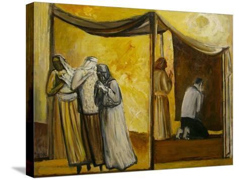 Abraham Praying-Richard Mcbee-Stretched Canvas Print